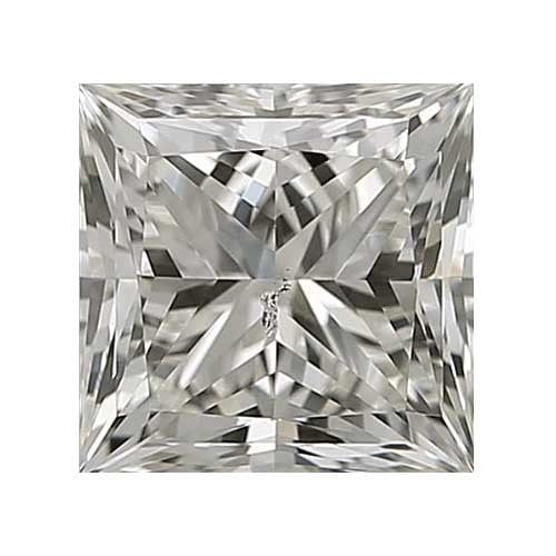 0.25 carat Princess Diamond - J/SI3 CE Excellent Cut - TIG Certified - Custom Made