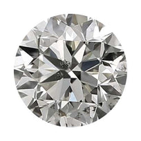 Loose Diamond 0.25 carat Round Cut Diamonds - J/I1 CE Good Cut - AIG Certified