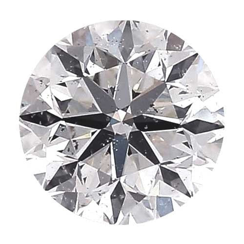 0.25 carat Round Diamond - D/SI3 Natural Good Cut - TIG Certified - Custom Made