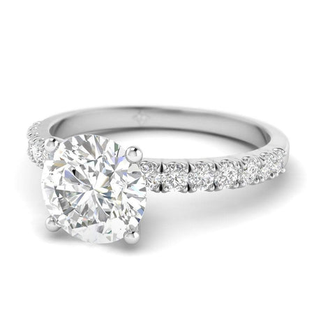 ManyChat 0.25 carat Round Diamond Engagement Ring in 14k White Gold
