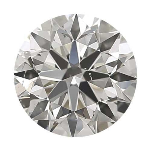 0.25 carat Round Diamond - H/VS2 CE Good Cut - TIG Certified - Custom Made
