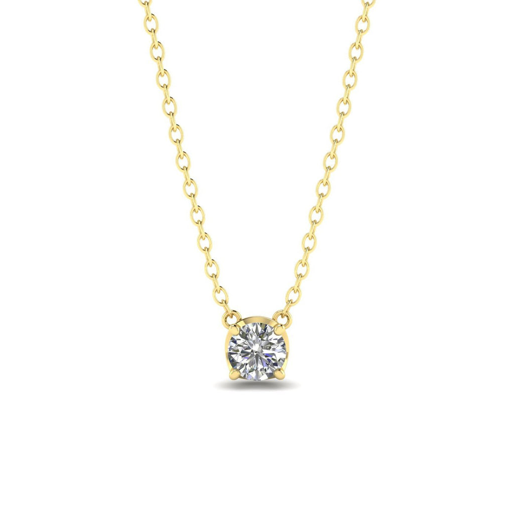 Daily Deal 0.25ct Diamond Yellow Gold Solitaire Necklace