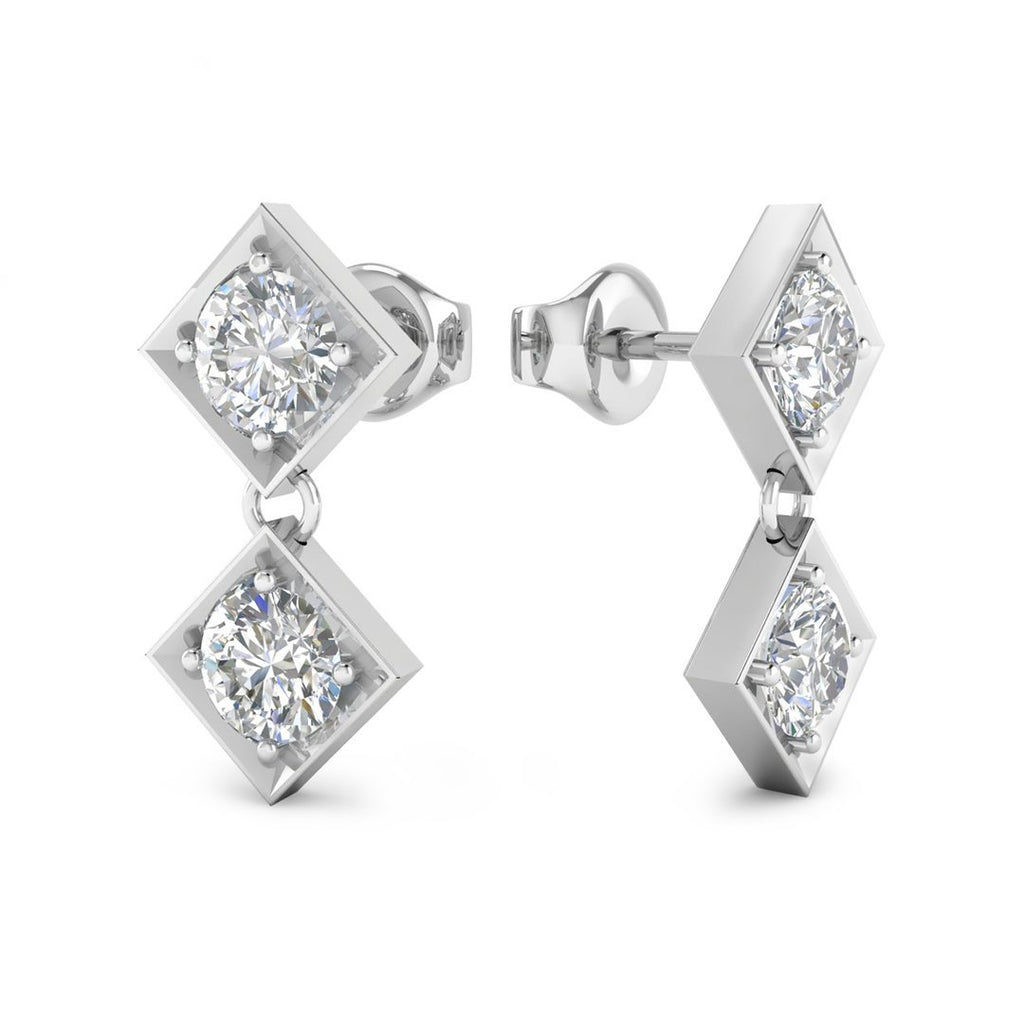 e7ee83b27 Daily Deal 0.2ct Diamond White Gold Designer Earrings. Images / 1 / 2 / 3  ...