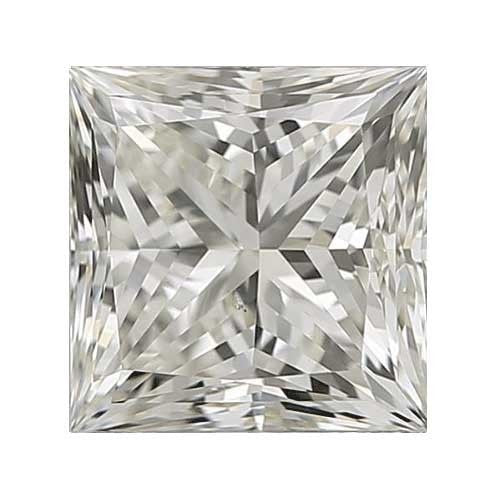 0.3 carat Princess Diamond - I/VS1 CE Very Good Cut - TIG Certified - Custom Made