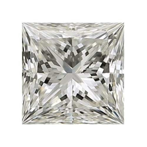 Loose Diamond 0.3 carat Princess Diamond - J/I1 CE Very Good Cut - AIG Certified