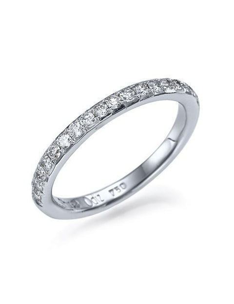 0.32 carat Semi Eternity Diamond Wedding Anniversary Ring in 14k Gold