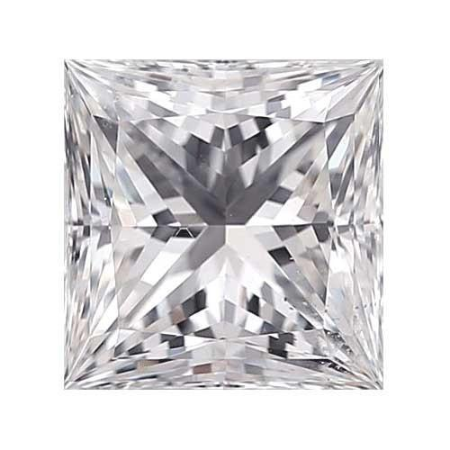 0.35 carat Princess Diamond - D/VS2 CE Excellent Cut - TIG Certified - Custom Made