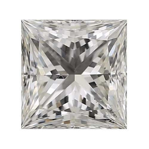 0.35 carat Princess Diamond - I/VS2 CE Very Good Cut - TIG Certified - Custom Made