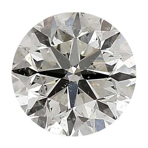 Loose Diamond 0.35 carat Round Diamond - J/SI3 CE Signature Ideal Cut - AIG Certified