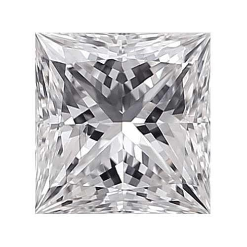 Loose Diamond 0.4 carat Princess Diamond - D/SI1 CE Very Good Cut - AIG Certified