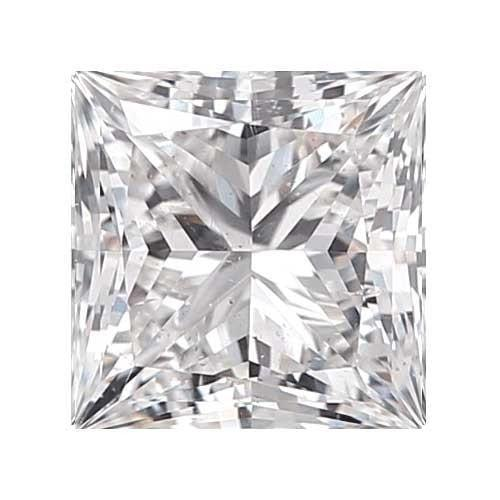 0.4 carat Princess Diamond - D/SI2 CE Very Good Cut - TIG Certified - Custom Made