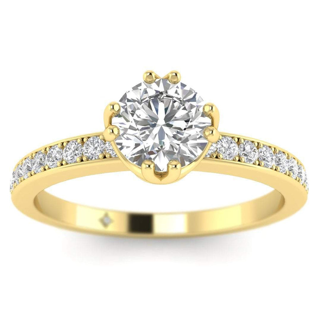 ManyChat 0.40 carat J-VS1 Round Diamond Engagement Ring in 14k Yellow Gold