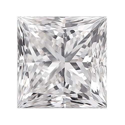 0.45 carat Princess Diamond - E/VS1 CE Very Good Cut - TIG Certified - Custom Made