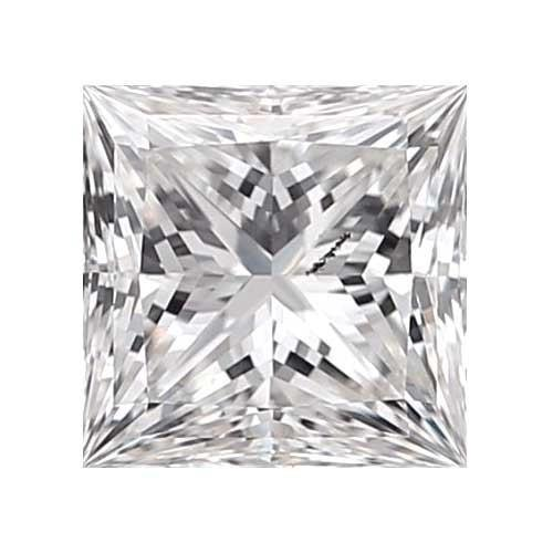 0.45 carat Princess Diamond - F/I1 CE Very Good Cut - TIG Certified - Custom Made