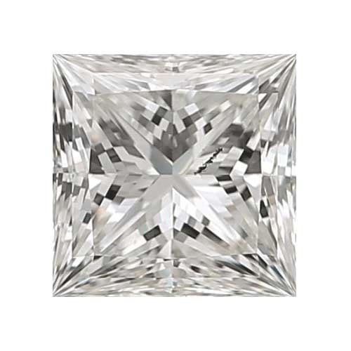 0.45 carat Princess Diamond - H/I1 CE Very Good Cut - TIG Certified - Custom Made