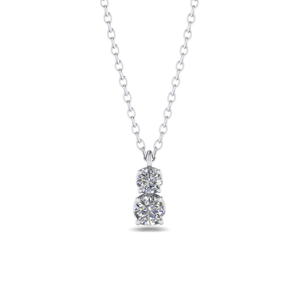 Daily Deal 0.45ct Diamond White Gold Drop Necklace