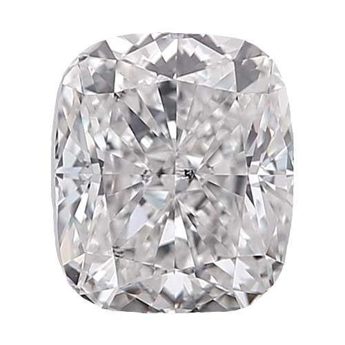0.5 carat Cushion Diamond - D/SI3 Natural Very Good Cut - TIG Certified - Custom Made