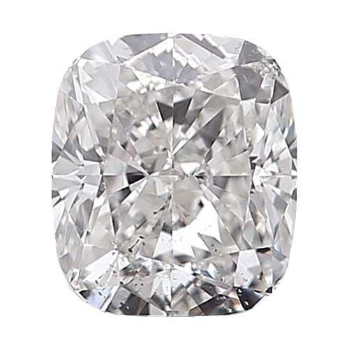 0.5 carat Cushion Diamond - D/SI2 Natural Very Good Cut - TIG Certified - Custom Made