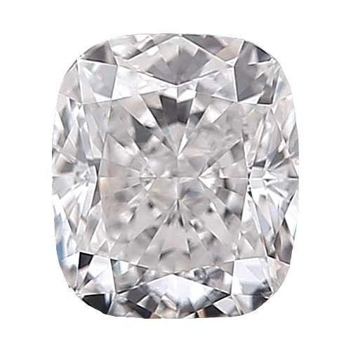 0.5 carat Cushion Diamond - D/VS1 Natural Very Good Cut - TIG Certified - Custom Made