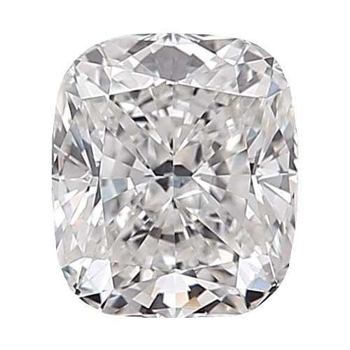 0.5 carat Cushion Diamond - D/VS2 Natural Excellent Cut - TIG Certified - Custom Made