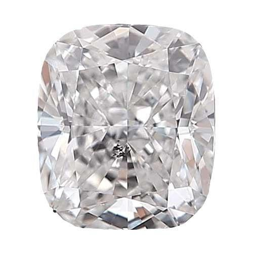 0.5 carat Cushion Diamond - F/I1 Natural Very Good Cut - TIG Certified - Custom Made