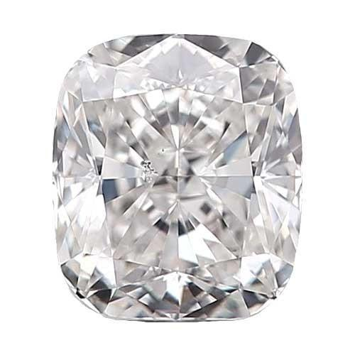 0.5 carat Cushion Diamond - F/SI1 Natural Very Good Cut - TIG Certified - Custom Made