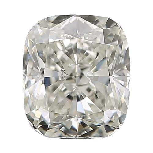 0.5 carat Cushion Diamond - J/SI1 Natural Very Good Cut - TIG Certified - Custom Made