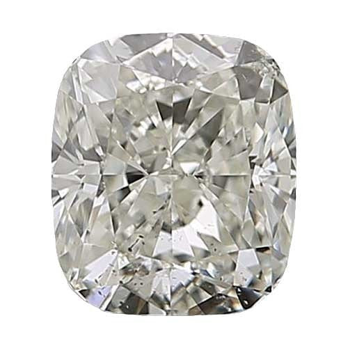 0.5 carat Cushion Diamond - J/SI2 Natural Very Good Cut - TIG Certified - Custom Made
