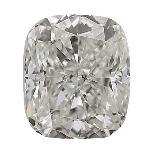 0.5 carat Cushion Diamond - J/SI3 Natural Very Good Cut - TIG Certified - Custom Made