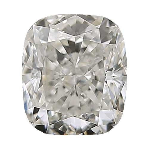 0.5 carat Cushion Diamond - J/VS1 Natural Excellent Cut - TIG Certified - Custom Made