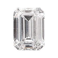Loose Diamond 0.5 carat Emerald Cut Diamond - E/SI3 Natural Excellent Cut - AIG Certified