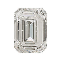 Loose Diamond 0.5 carat Emerald Cut Diamond - G/SI2 Natural Excellent Cut - AIG Certified