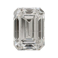 Loose Diamond 0.5 carat Emerald Cut Diamonds - H/SI1 Natural Very Good Cut - AIG Certified