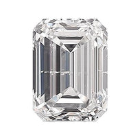 Loose Diamond 0.5 carat Emerald Diamond - E/I1 Natural Excellent Cut - AIG Certified