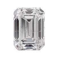 Loose Diamond 0.5 carat Emerald Diamond - E/SI1 Natural Very Good Cut - AIG Certified