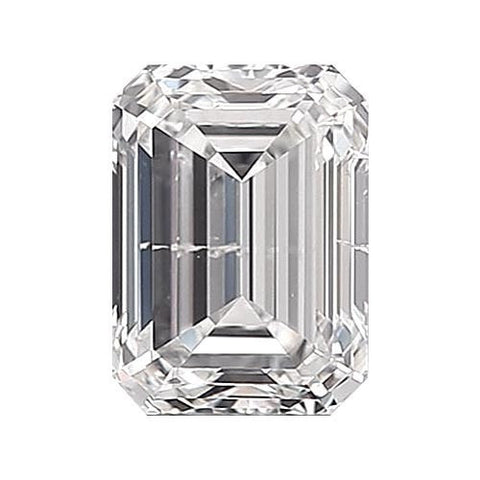 Loose Diamond 0.5 carat Emerald Diamond - F/I1 Natural Excellent Cut - AIG Certified