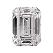 Loose Diamond 0.5 carat Emerald Diamond - F/SI1 Natural Very Good Cut - AIG Certified