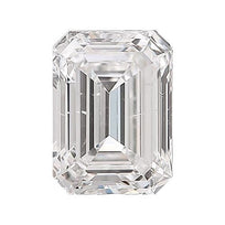 Loose Diamond 0.5 carat Emerald Diamond - F/SI2 Natural Excellent Cut - AIG Certified