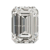 Loose Diamond 0.5 carat Emerald Diamond - G/I1 Natural Excellent Cut - AIG Certified