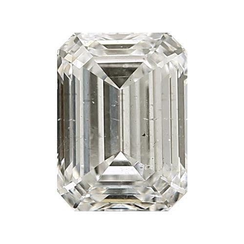 Loose Diamond 0.5 carat Emerald Diamond - J/SI3 Natural Very Good Cut - AIG Certified