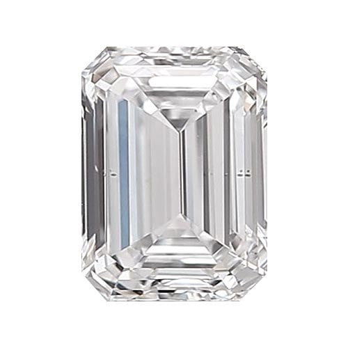 Loose Diamond 0.5 carat Emerald Diamonds - D/VS2 Natural Excellent Cut - AIG Certified