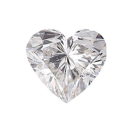 Loose Diamond 0.5 carat Heart Diamond - D/I1 Natural Very Good Cut - AIG Certified