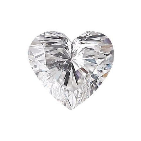 Loose Diamond 0.5 carat Heart Diamond - D/SI3 Natural Excellent Cut - AIG Certified