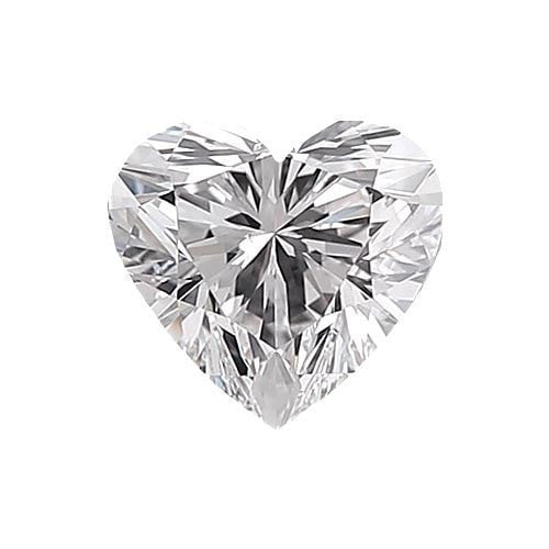 0.5 carat Heart Diamond - D/VS1 Natural Excellent Cut - TIG Certified - Custom Made