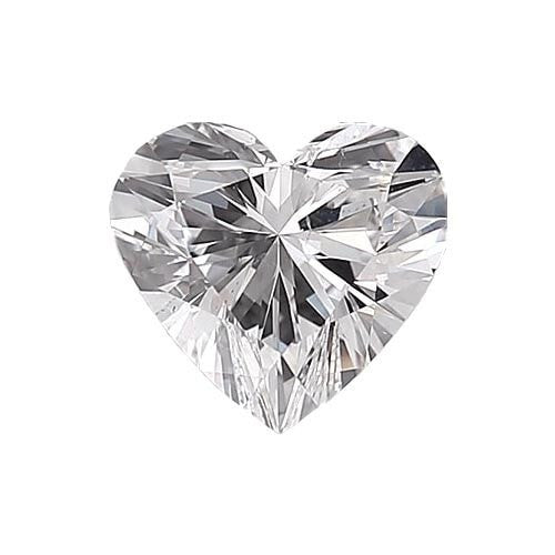 0.5 carat Heart Diamond - E/VS2 Natural Very Good Cut - TIG Certified - Custom Made