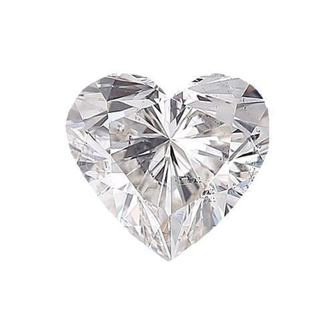 Loose Diamond 0.5 carat Heart Diamond - F/I1 Natural Excellent Cut - AIG Certified