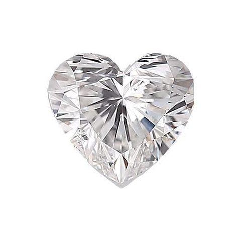 Loose Diamond 0.5 carat Heart Diamond - F/SI1 Natural Excellent Cut - AIG Certified