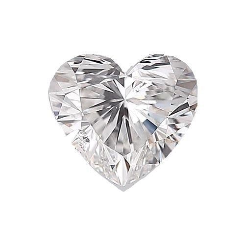 0.5 carat Heart Diamond - F/SI1 Natural Very Good Cut - TIG Certified - Custom Made