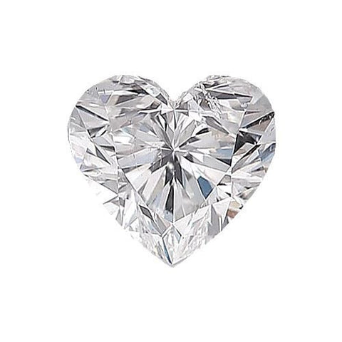 Loose Diamond 0.5 carat Heart Diamond - F/SI2 Natural Excellent Cut - AIG Certified
