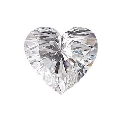 0.5 carat Heart Diamond - F/SI3 Natural Excellent Cut - TIG Certified - Custom Made